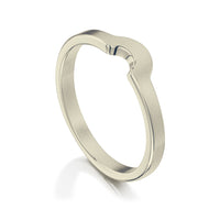 Arch Wedding Band in 9ct White Gold (to match DR181) by Sheila Fleet Jewellery