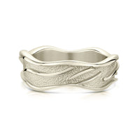 Sea Motion Ring in 9ct White Gold by Sheila Fleet Jewellery