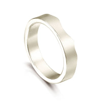 River Ripples Wedding Ring in 9ct White Gold by Sheila Fleet Jewellery