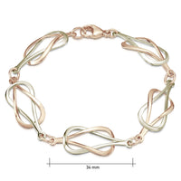 Reef Knot Bracelet in 9ct White and Rose Gold by Sheila Fleet Jewellery