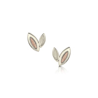 Seasons Petite Stud Earrings in 9ct White & Rose Gold by Sheila Fleet Jewellery