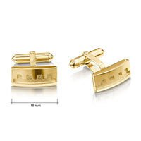 Castle Cufflinks in 9ct Yellow Gold