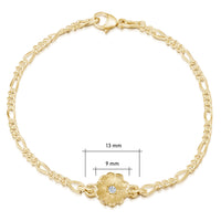 Primula Scotica Diamond Bracelet in 9ct Yellow Gold