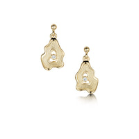 Rock Pool Diamond Drop Earrings in 9ct Yellow Gold by Sheila Fleet Jewellery