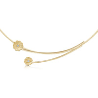 Primula Scotica 2-flower Diamond Necklace in 9ct Yellow Gold by Sheila Fleet Jewellery
