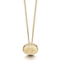 Skyran 'She' Small Pendant Necklace in 9ct Yellow Gold by Sheila Fleet Jewellery