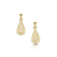 Tidal Treasures Small Drop Earrings in 9ct Yellow Gold