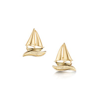Orkney Yole Stud Earrings in 9ct Yellow Gold