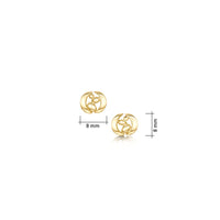 Captivate Small Stud Earrings in 9ct Yellow Gold
