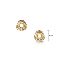 Reef Knot Stud Earrings in 9ct Yellow Gold by Sheila Fleet Jewellery