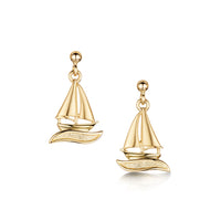 Orkney Yole Drop Earrings in 9ct Yellow Gold
