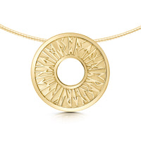 Runic Necklace in 9ct Yellow Gold