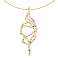 Tidal Occasion Necklace in 9ct Yellow Gold by Sheila Fleet Jewellery