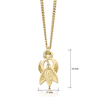 Single Snowdrop Petite Pendant Necklace in 9ct Yellow Gold