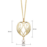 Mill Sands Petite Pendant Necklace in 9ct Yellow Gold