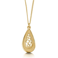 Tidal Treasures Small Pendant Necklace in 9ct Yellow Gold