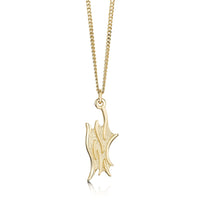 Sea Motion Small Pendant Necklace in 9ct Yellow Gold