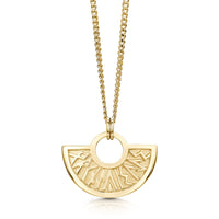 Runic Small Pendant Necklace in 9ct Yellow Gold