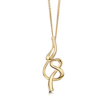 Tidal Pendant Necklace in 9ct Yellow Gold by Sheila Fleet Jewellery