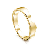 River Ripples Wedding Band in 9ct Yellow Gold by Sheila Fleet Jewellery