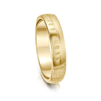 Ogham Small Ring in 9ct Yellow Gold by Sheila Fleet Jewellery