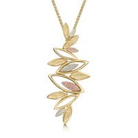 Seasons Dress Pendant Necklace in 9ct Yellow, White & Rose Gold by Sheila Fleet Jewellery