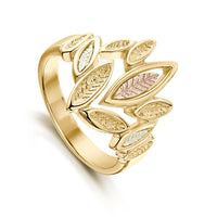 Seasons All Gold Ring in 9ct Yellow Gold by Sheila Fleet Jewellery