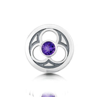 Celtic Trinity Brooch with Amethyst