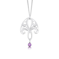 Thistle Pendant Necklace with Amethyst by Sheila Fleet Jewellery