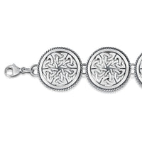 Book of Kells Bracelet in Sterling Silver by Sheila Fleet Jewellery