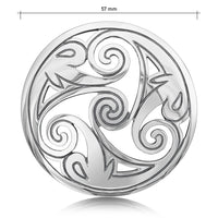 Birsay Disc Dress Brooch in Sterling Silver