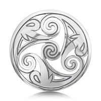 Birsay Disc Dress Brooch in Sterling Silver by Sheila Fleet Jewellery