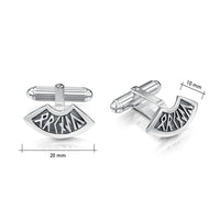 Runic Small Cufflinks in Sterling Silver