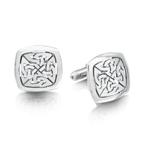 The Lover's Knot Sterling Silver Cufflinks by Sheila Fleet Jewellery