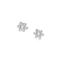 Daisies at Dawn Petite Enamel Stud Earrings with CZ