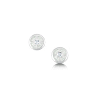 Mine Howe Small Enamel Stud Earrings in Sterling Silver