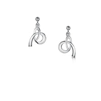 Tidal Small Drop Earrings in Sterling Silver by Sheila Fleet Jewellery