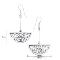 Book of Kells Drop Earrings in Sterling Silver