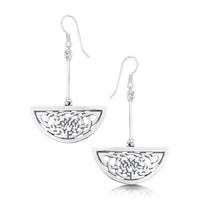 Book of Kells Drop Earrings in Sterling Silver by Sheila Fleet Jewellery
