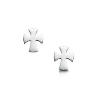 Cross of the Kirk Small Sterling Silver Stud Earrings