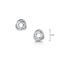 Reef Knot Stud Earrings in Sterling Silver by Sheila Fleet Jewellery