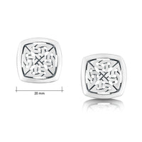 The Lover's Knot Silver Stud Earrings by Sheila Fleet Jewellery