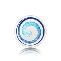 Surfbreaker Enamel Brooch in Sterling Silver by Sheila Fleet Jewellery