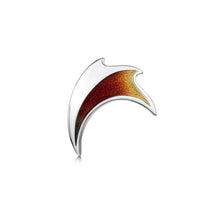 New Wave Silver Brooch in Flame Enamel by Sheila Fleet Jewellery