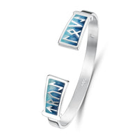 Runic Bangle in Skaill Enamel by Sheila Fleet Jewellery