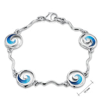 Pentland Enamelled Bracelet in Sterling Silver