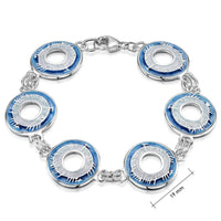 Skyran Enamel 'Blessing' Bracelet in Sterling Silver by Sheila Fleet Jewellery