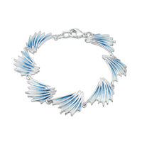 Cascade Enamel Bracelet in Sterling Silver by Sheila Fleet Jewellery