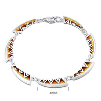 Skara Shard Enamel Bracelet in Sterling Silver by Sheila Fleet Jewellery