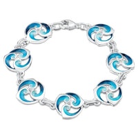 Breckon Enamel Bracelet in Sterling Silver by Sheila Fleet Jewellery